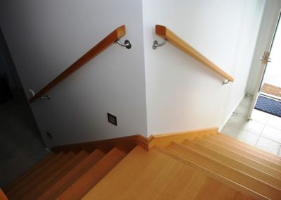 Dual Access Rectangular Handrail On Satin Conventional Brackets