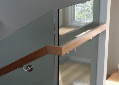 Blackbutt Rectangular Handrail On Glass Balustrade